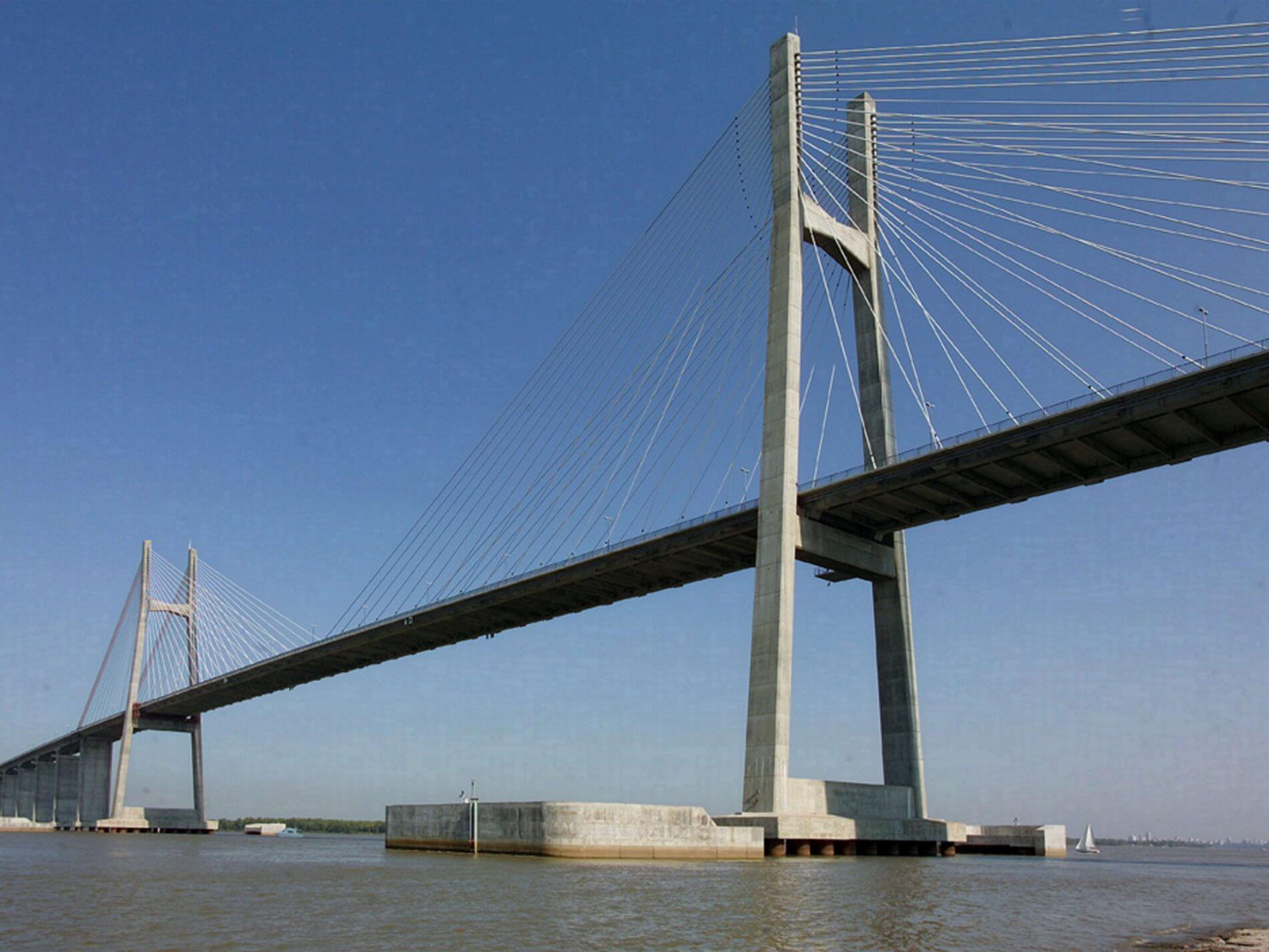 Construcción del puente Rosario ? Victoria ? Roggio